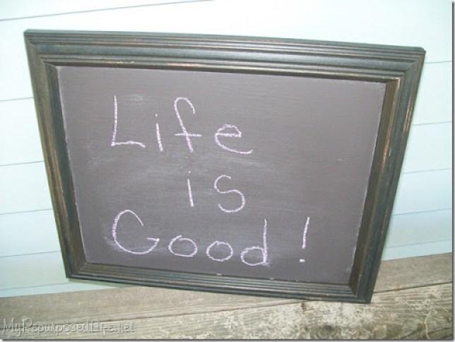 thrift store frame chalkboard