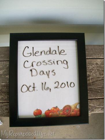 black framed autumn dry erase board