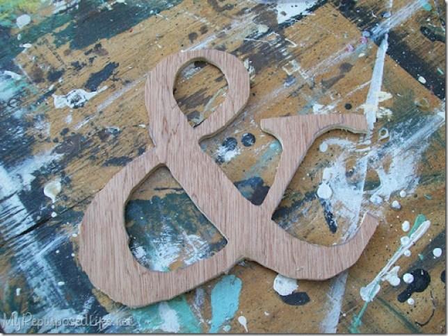 diy wooden ampersand