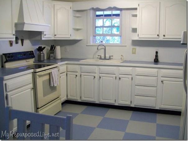 white (oak) cabinets