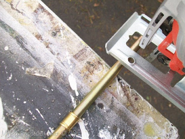 how to cut a lamp rod