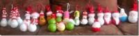 Manualidades navidad bombillas con pap Noel para decoracin