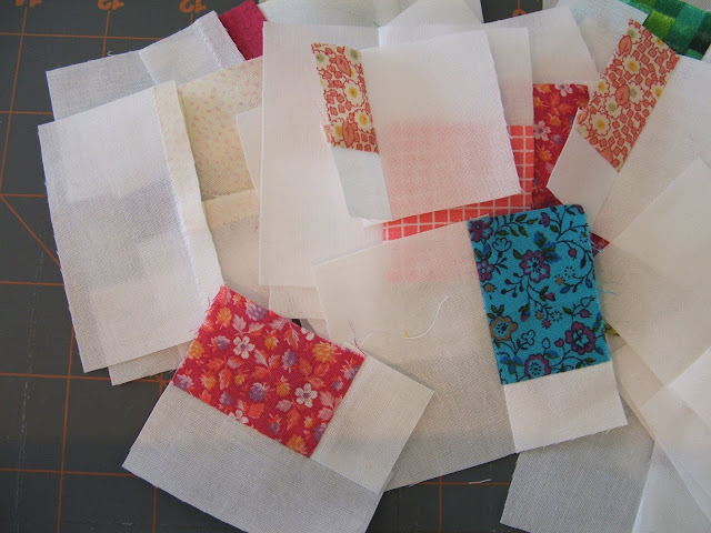 sewn and pressed, they are pretty little puzzle pieces