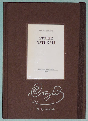 """Front cover, with original """"Storie Naturali"""" cover as a pastedown"""