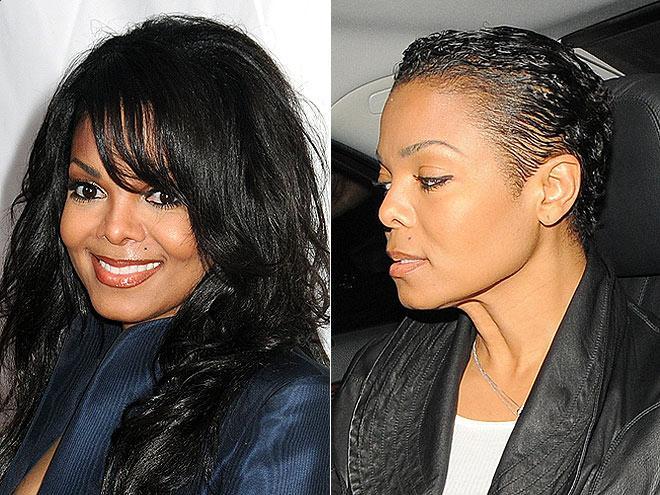 Janet Jackson's pixie haircut 2011
