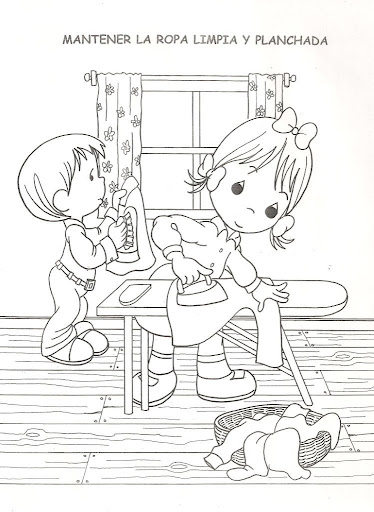 kid doing chores Colouring Pages