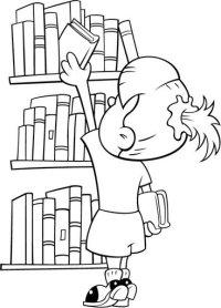 Dia De La Biblioteca Escolar Para Colorear Dibujos De