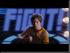 "Scott Pilgrim (MICHAEL CERA) faces off with one of Ramona's evil exes in the amazing story of one romantic slacker's quest to power up with love: the action-comedy ""Scott Pilgrim vs. the World""."