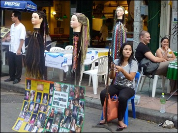 Bangkok Street Hair Braider
