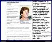 Barnard Chantelle 20 raped throat slit and then bathed Benoni AH Apr22011