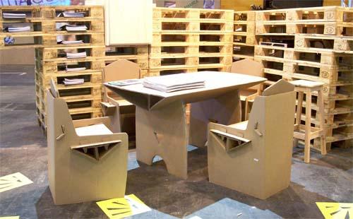 muebles de carton decoracion fitur 2010