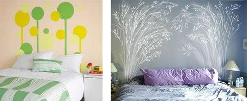 Ideas para pintar un falso cabecero de cama for Como hacer un cabezal para la cama