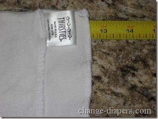 size 1 duo hemp prefold width after prepping
