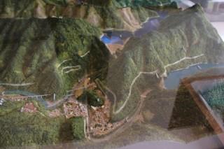 川治ダムと五十里ダムのジオラマ