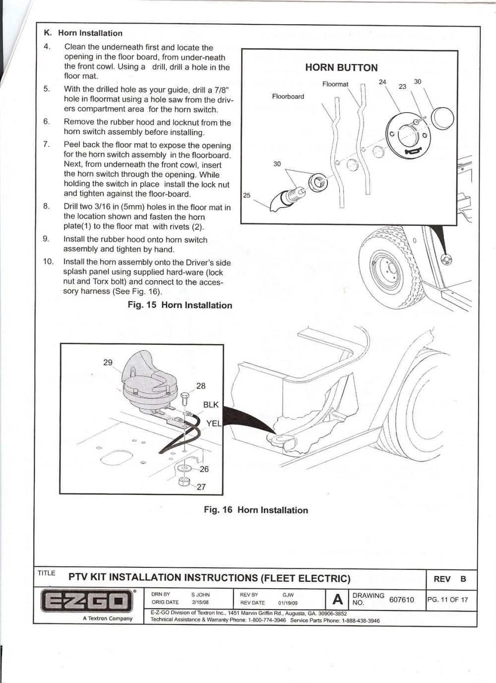 medium resolution of ezgo marathon light kit wiring diagram