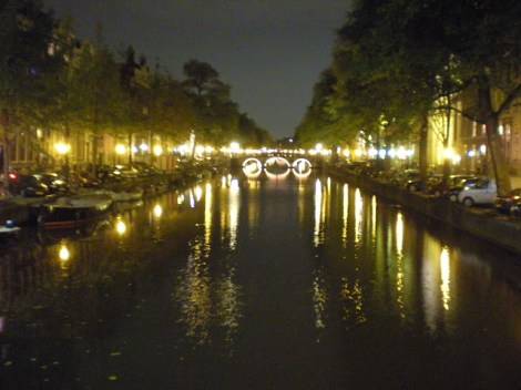 One of the many canals in Amsterdam, Netherlands on Oct. 7, 2008