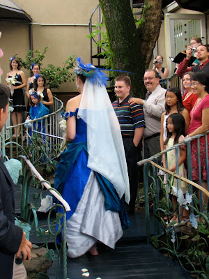 bride walking up the aisle