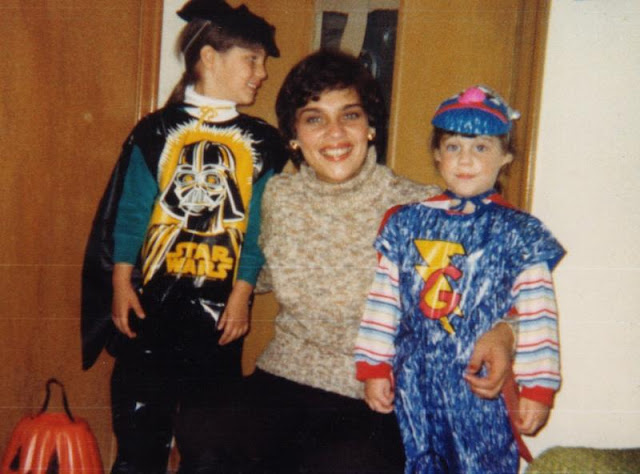 me as Darth Vader in the '80s