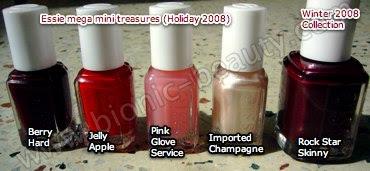 Essie mega mini holiday polishes and rock star skinny