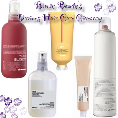 Davine's hair care giveaway from the Bionic Beauty blog