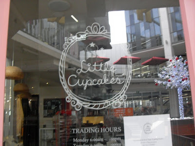 The front door of the little cupcakes store in Melbourne