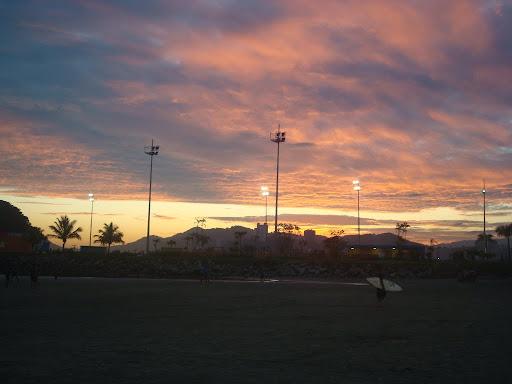 Céu inspirador para fotos