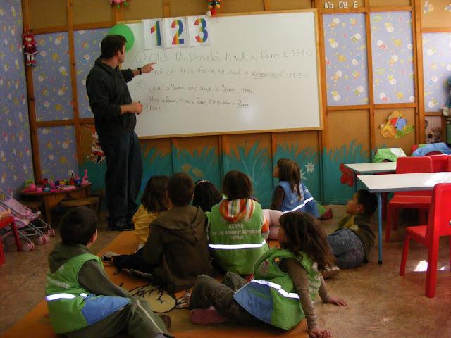 Teaching my kindergarten class
