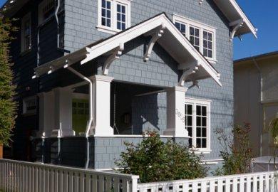 Painted Craftsman Style Front Door