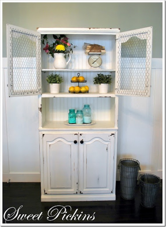 Distressing with Vaseline and Cabinet Scrapers} | Sweet Pickins ...