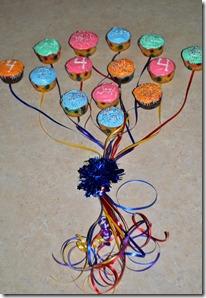 balloon boquet cupcakes