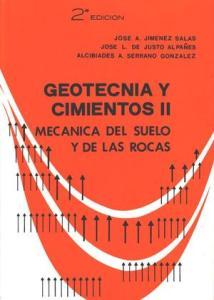 Portada del Tomo II del Geotecnia y Cimientos, de J. A. Jiménez Salas