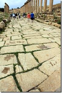 Chariot ruts, Cardo Maximus, Jerash, Jordan