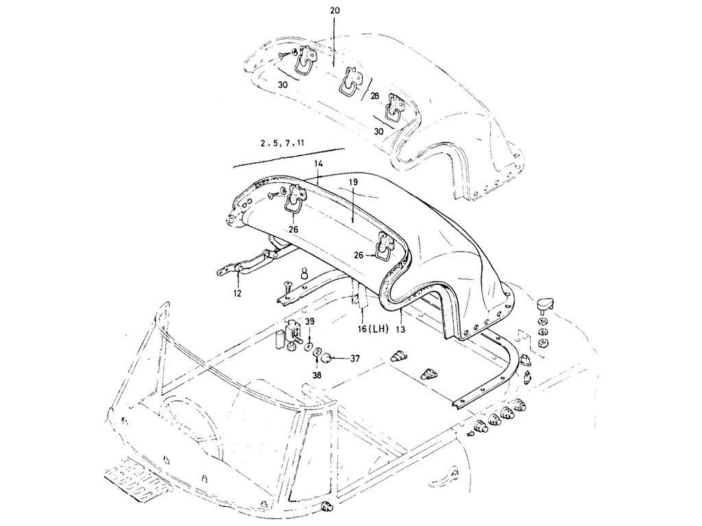 Datsun Fairlady 1600/2000 Soft & Hard Top & Room Back Side