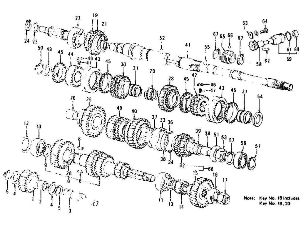 Datsun 280Z Transmission Gears, Speedometer Pinion (5