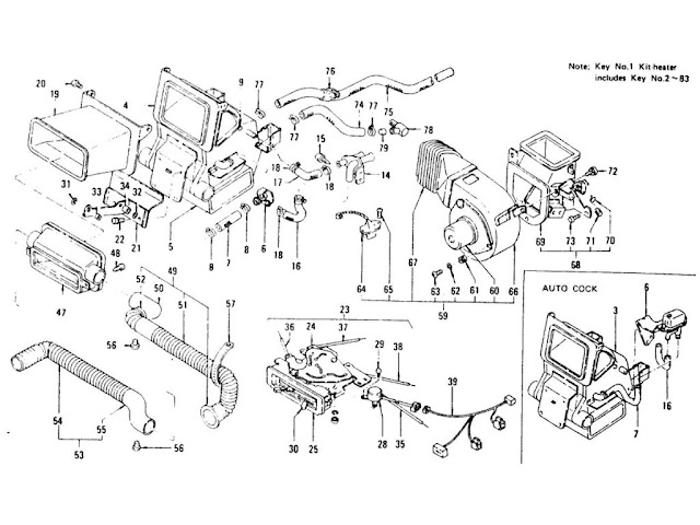 Datsun 240Z/260Z/280Z Car Heater (From Aug.-'73)