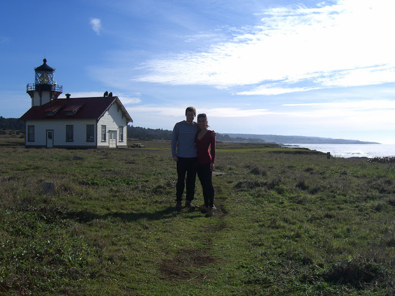 Serena and me with the lightstation