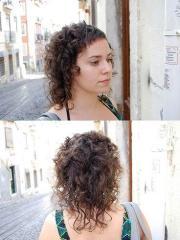 kim kardashian emo curly hairstyles