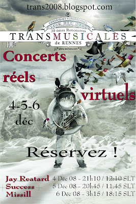 Flyer for Transmusicales 2008