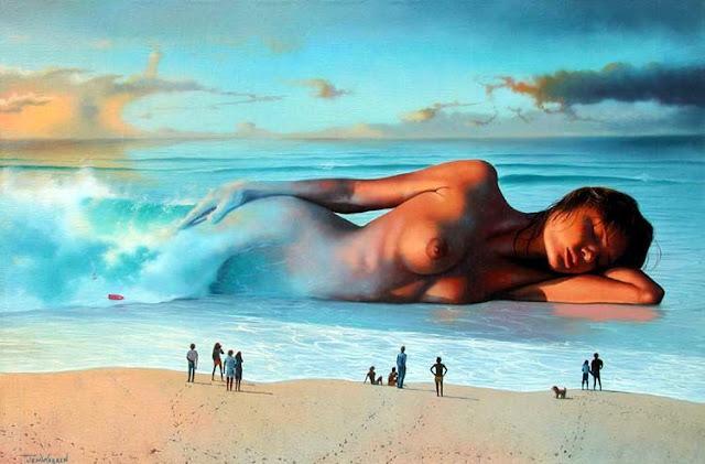 Si fuese mar de tu cuerpo, cielo, sol, delgada arena...