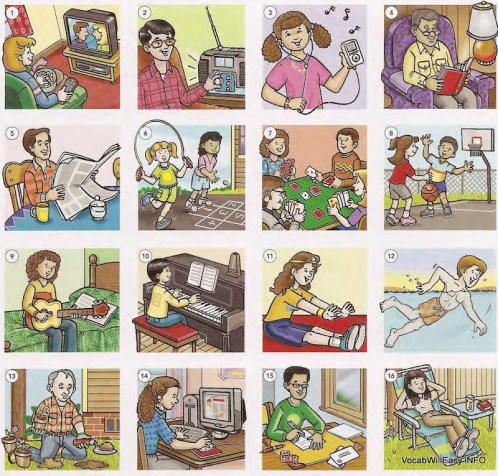 LEISURE%20ACTIVITIES LEISURE ACTIVITIES people english through pictures