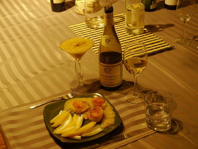 Scallops and Chardonnay