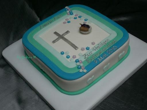Eine Torte en bleu  zur Erstkommunion  Motivtorten