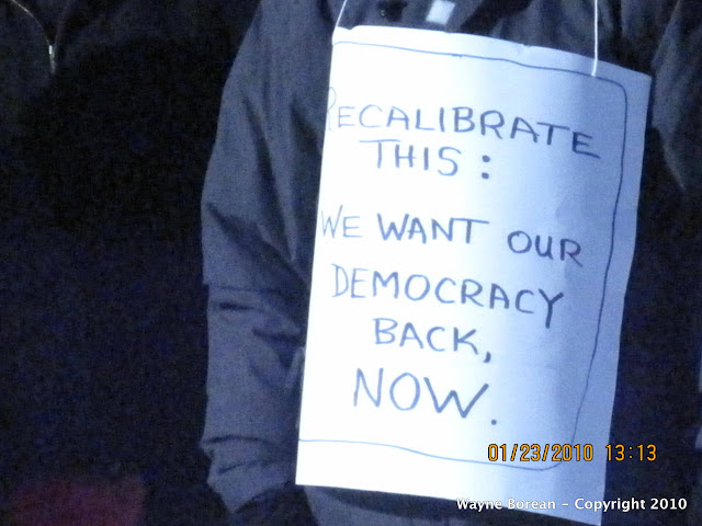 We want our Democracy back