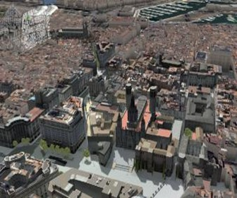 Vista_aerea_virtual_plaza_catedral_parte_barrio_Gotic