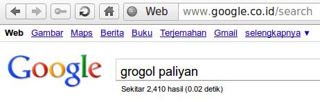 Desa Grogol Menurut Google
