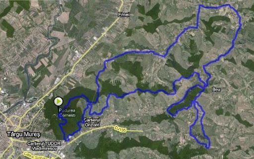 MTB Mures 2009 - traseu 53 km