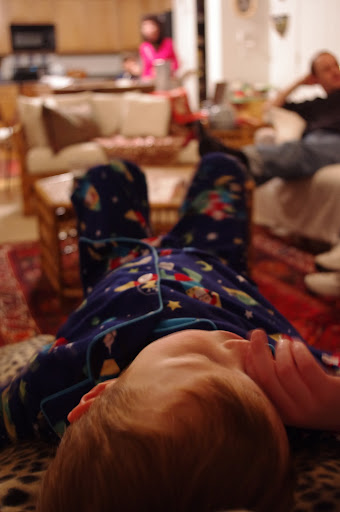 Also, I want Santa-riding-rocketship pajamas!