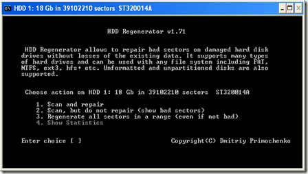 Mengatasi Bad Sector Harddisk