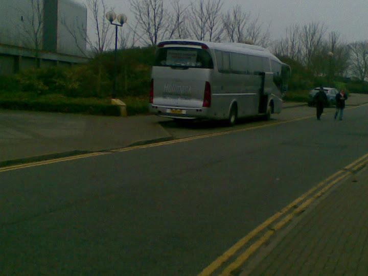 The Boro coach outside NP.
