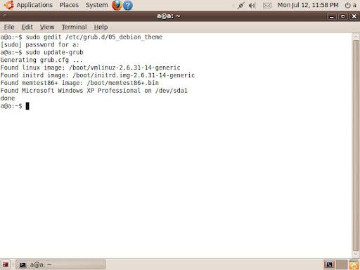 Settings GRUB in Ubuntu | Memory Lack